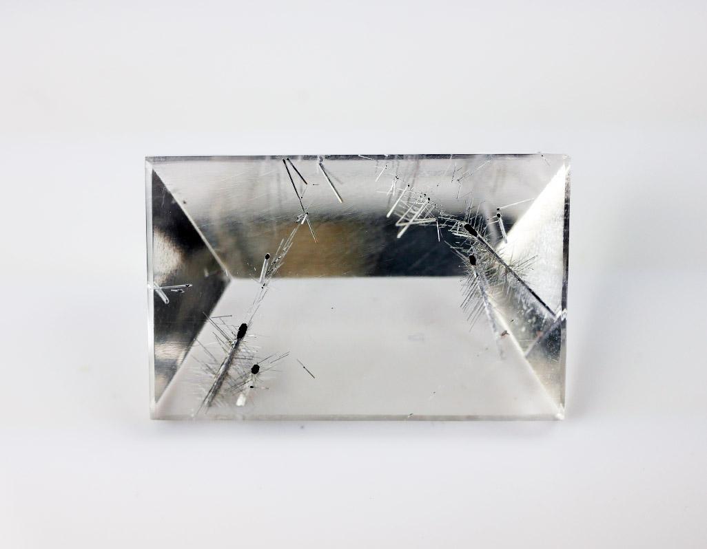 Bergkristall mit Silber-Rutil