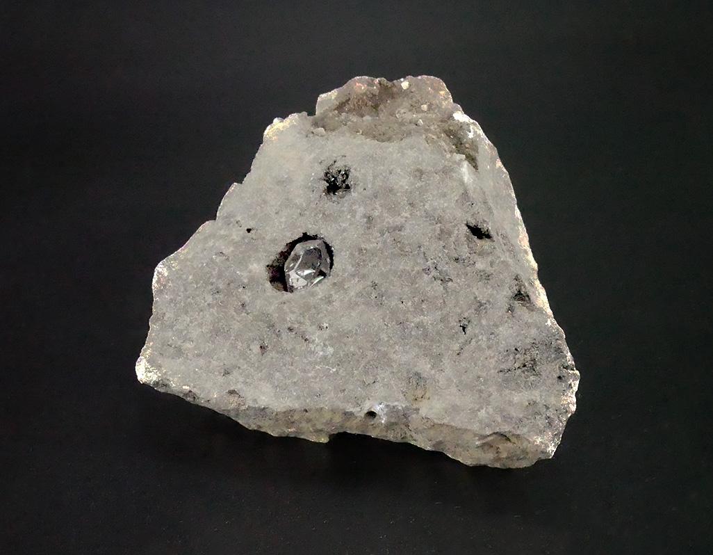 Herkimer Diamant in Gestein